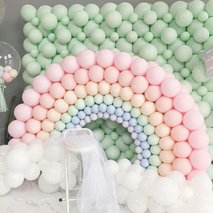 Wholesale balloon arches for sale - Group buy 100pcs inch Macaron Latex Balloons Pastel Candy Balloon Birthday Party Decorations Kids Air Helium Baby Shower Wedding Globos Balloon Arch