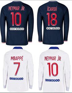 Wholesale neymar jr long sleeve jersey for sale - Group buy 2020 Long sleeve soccer jerseys MBAPPE ICARD DRAXLER Maillots de football shirts NEYMAR JR ICARDI men soccer uniforms football shirt