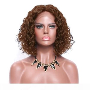 Wholesale short bobs haircuts resale online - Premier Lace Front Wigs Brazilian Virgin Human Hair Short Bob Haircut Density Loose Curly Preplucked Natural Hairline With Baby Hair