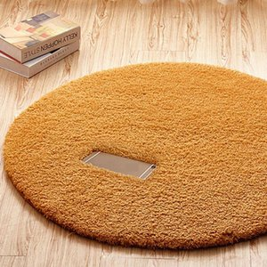 Wholesale round fur rug for sale - Group buy Fluffy Fleece Round Rug Carpets for Living Room Faux Fur Rugs for Bedroom Long Plush Carpet Kids Room Shaggy Area Rug Home Mat