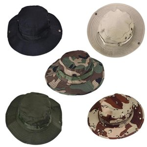 Wholesale army camo hat resale online - Outdoor Sports Men Women s Fishing Hat Camouflage Bucket Hat Fisherman Camo Ripstop Jungle Bush Hats Boonie Unisex