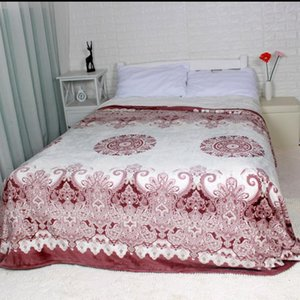 Wholesale sofa bed sheets queen for sale - Group buy Winter blanket on the Bed Red Flower Soft Thick KING QUEEN Size Flannel Fleece Blankets Throw for the couch sofa Bed Sheet