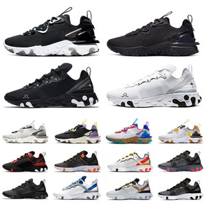 Wholesale silver script for sale - Group buy White black schematic react element mens running shoes react vision honeycomb script tour yellow men women trainer sports sneakers