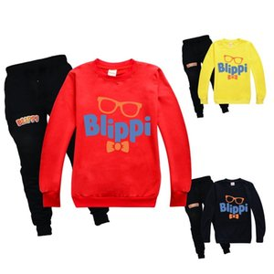 Wholesale childs clothes for sale - Group buy BLIPPI Clothes Sweatshirt Fleece Warm Childs Pants Suit Casual Boys Long Sleeve Cotton Hoodies Sportswear Halloween Kids ClothesX1019