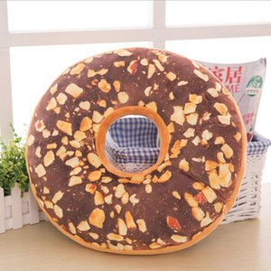 Wholesale high quality chair cushions resale online - High Quality Funny Cartoon Sweet Chocolates Donuts Bedding And Chair Back Cushion Car Mats Pillow Pillows Home Decoration