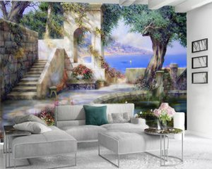 Wholesale garden wallpaper for living room resale online - 3d Modern Wallpaper Romantic Landscape d Mural Wallpaper Beautiful Garden by the Lake d Wall Paper for Living Room Custom Photo