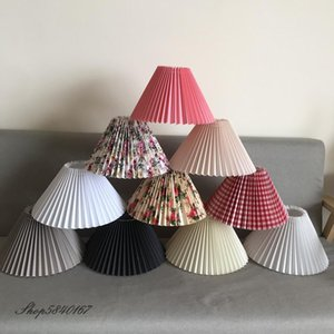 Wholesale shades for lamps for sale - Group buy New Pleats Lampshade for Table Lamp Standing Lamps Japanese Style Pleated Lampshade Creative Desk Lamp Shade Bedroom Lamps E27