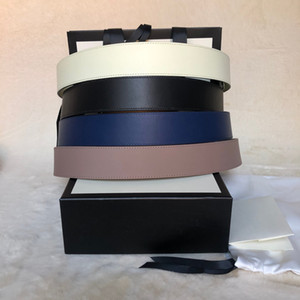 Classic best quality 6 colors 3 widths genuine leather women belt with box men belts women gold silver buckle belt 066