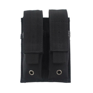 Wholesale molle mag pouch resale online - Molle Tactical Double Magazine Pouch Pistol Mag Holder For Tactical Hunting