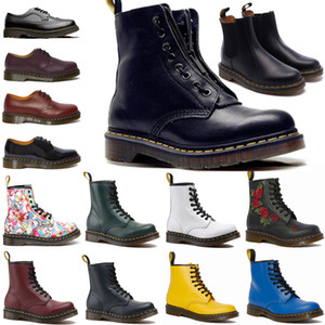 Wholesale snow boots men resale online - 2021 designer ankle dr platform martin fox zip detail men mens women womens fur snow martins boot desert doc boots