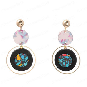 Wholesale tortoises shell resale online - Korean Styles Earring Geometric Pink Blue Tortoise Shell Resin Hot Selling Earring Woon Sweet