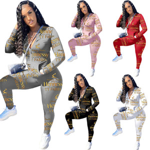 fall winter Women tracksuits 2 piece sets letter jacket pants 2XL yoga cardigan leggings casual clothing sportswear outerwear outfits 4341