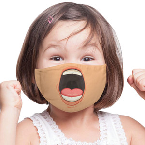 Wholesale new black face mask for sale - Group buy NEW Unisex D Funny Face Printed Masks Adult Kids Windproof Washable Reusable Cotton Adjustable Mouth Mask CCE4290