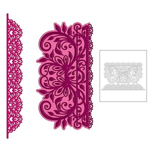 Wholesale paper cutting patterns resale online - 2020 New Decoration Frame Pattern Lace and Edge Embossing Metal Cutting Dies For DIY Scrapbooking Greeting Card Paper no Stamps Q1114