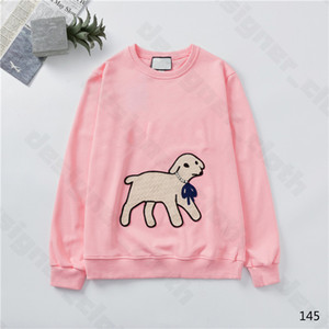 New Arival 20ss Womens Designer Hoodies Fashion Lamb Animal Autumn Winter Mens Long Sleeve Hoodie Pullover Clothes Sweatshirts