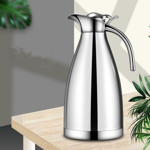 Wholesale coffee carafe for sale - Group buy Coffee Pot Milk Tea Jug European L Vacuum Insulation Double Wall Stainless Steel Water Carafe Flask Thermal Thermos Bottle