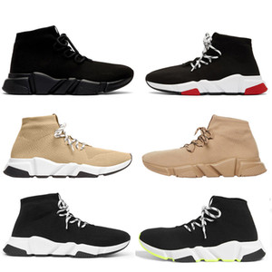 белые сапоги женщины оптовых-chaussures hommes balenciaga balenciaca balanciaga with box designer men women speed trainer sock boots socks boot casual shoes shoe runners runner sneakers