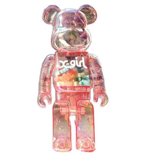Newset 400% 28CM The Bearbrick Bear ABS Bright color and transparent night light Be@rbrick Art Work model decorations gift