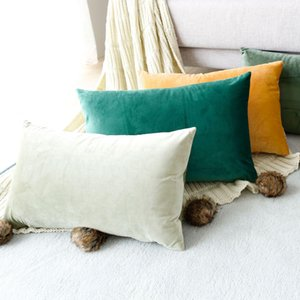 Wholesale cover for pillows resale online - 22 Colors Cushion Cover x50 Rectangle Pillow Case for Living Room Sofa Velvet Throw Pillowcase Home Decoration Kussenhoes Decor FWD2571
