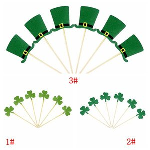 ingrosso cappelli da topper-St Patrick s Day Toppers Toppers Irish Carnival Party Decoration Green Clover Hat Cat Topper Decorations Forniture all ingrosso GWF4918