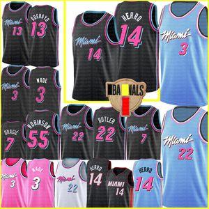 NCAA Tyler 14 Herro Dwyane 3 Wade Jimmy 22 Butler MiamiHeatJersey Duncan 55 Robinson Goran 7 Dragic Bam 13 Adebayo Basketball