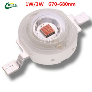 3w chips led rouge achat en gros de-news_sitemap_home670 nm W mil Epileds Chip Deep Red LED Perles Diodes plante pousse LED Grow Light Part