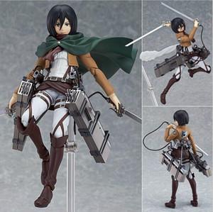 Attacking Giant Figure 203 Mikasa Ackerman Figma Anime Figures Model Toys Collectible Doll Gift no box new