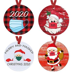 Wholesale decorating christmas trees resale online - Christmas Ornaments Santa Wearing A Face Bandana Cover Decorate Christmas Tree Decoration Cute Santa Clause Decoration FWE2425