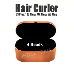 Top Quality Hair Curler Professional Salon Tools EU US UK AU Version 8Heads Curling Iron for Normal Hair with Gift Box