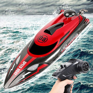 Wholesale toys boat ships for sale - Group buy Ewellsold G Premium Quality HJ808 RC Boat km h High Speed Remote Control Racing Ship RC Boat Water Speed Boat Children Model Toy