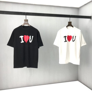 Wholesale letter blocks for sale - Group buy Early spring new color block letter logo Short Sleeve Tee double strand fine cotton fabric black and white oj7