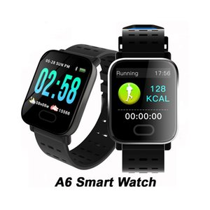 amazon relojes al por mayor-Amazon Venta caliente A6 Smart Watch Band Ligent Tasa de ritmo cardíaco Monitor Fitness Tracker Pulsera inteligente Reloj de pulsera impermeable