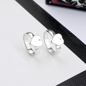 Wholesale christmas gift girlfriend for sale - Group buy New Women Heart Finger Ring Letter Heart Ring with Stamp Fashion Jewelry Accessories Gift for Love Girlfriend