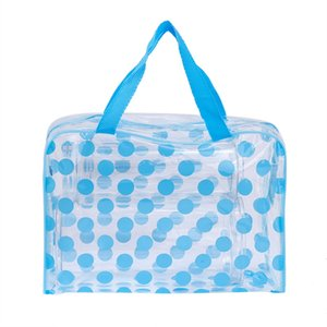 Wholesale transparent clothes storage bag for sale - Group buy New transparent PVC waterproof wash bag dot Makeup Bag Travel dustproof clothes storage bag dirty clothes p2