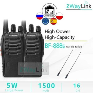 ingrosso baofeng 888s-1pc BAOFENG BF S A due way Radio BAOFENG Walkie Talkie S UHF MHz Channel H777 Transceiver Radio Set1