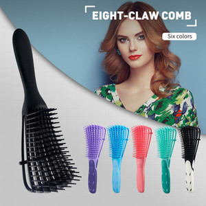 Wholesale claw comb for sale - Group buy Eight Claw Comb Six Color Hair Brush Scalp Massage Comb Salon Hairdressing Styling Tool Hair Straightener Detangling Hair Comb