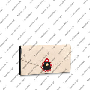 Wholesale cash envelope for sale - Group buy M69514 M69698 CRAFTY SARAH envelope WALLET canvas real Cowhide leather women men cash card coin zipper wallet purse bag