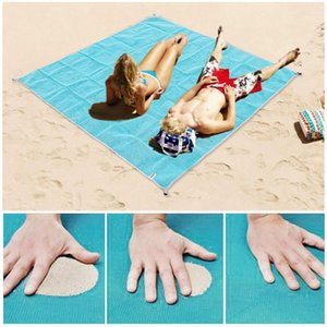 Wholesale outdoor rugs resale online - Beach Mat Portable Blue beach mat Anti slip Rug Outdoor for support drop shipping WY7181