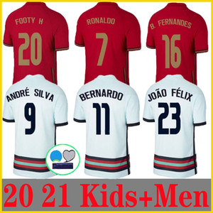 Wholesale national soccer teams for sale - Group buy 20 RONALDO soccer jerseys national team JOAO FELIX Bernardo PORTUGAL B FERNANDES Camisa de futebol men kids kit football shirts