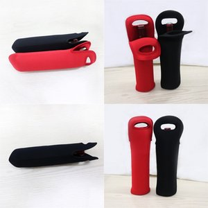 Wholesale good quality designer bags for sale - Group buy Good Quality Neoprene Black Red Color Beer Wine Bottle Sleeve Thermal Insulation Cup Cover Bag Bottles Holder For Party rx H1