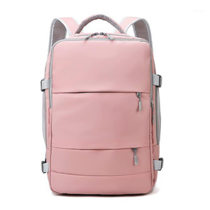 Wholesale pink gym bags for sale - Group buy Women Gym Duffle Backpack Pink Outdoor Sports Shoulder Bag for Travelling USB Backpack Multi Function Large Multi Function Bags1