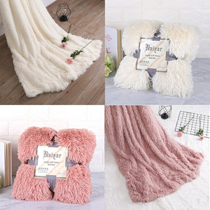 Wholesale sofa bed sheets queen for sale - Group buy Blanket Super Soft Fuzzy Fur Elegant Cozy Fluffy Throw Blanket Bed Sofa Bedspread Long Shaggy Soft Warm Bedding Sheet Large T200901