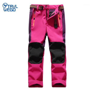 Wholesale snow pants kids resale online - TRVLWEGO Ski Pants Hiking Camping Child Waterproof Breathable Winter Fleece Soft Shell Thick Snow Pants Kids Skiing Trousers1