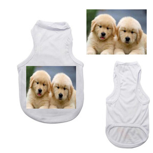 50pcs Sublimation Blank White Clothing DIY Pet Dog T Shirt for Small Pet Heat Transfer Print