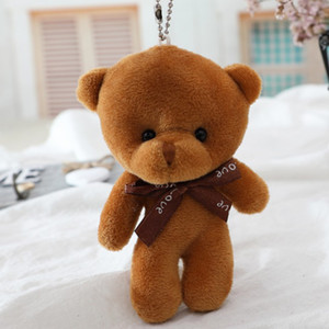 Wholesale black bear keychain resale online - One piece Plush Bear To Toy Doll Bear Factory Pendant Sales Keychain Toy Welcome Direct Order Ncahb