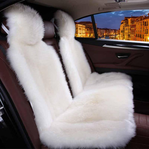 Wholesale sheepskin car covers resale online - Car interior accessories Car seat covers sheepskin cushion styling seat covers color FOR BACK D001 B