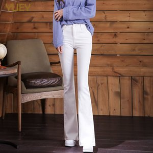 Wholesale style line slimming for sale - Group buy New Style Women Beautiful Slim White Flared Pants Stretch Thin Hot Lining Black Flare Denim Jeans S To XL Hot Sale Dropshipping