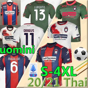 2020 2021 FC CROTONE soccer jerseys Home away BENALI 10 EDUARDO MESSIAS JERSEY Pitagorici Men uomini FOOTBALL SHIRTS uniforms 3XL 4XLTHAI