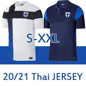 Finland National Team Soccer Jerseys European cup PUKKI SKRABB RAITALA JENSEN Suomi Home White Men Football Shirts Uniform S-2XL 2020 2021