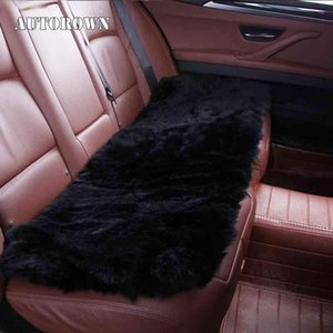 Wholesale sheepskin car covers resale online - AUTOROWN Universal Rear Car Seat Cover Cushion Cover Four Seasons Genuine Sheepskin Long Auto Interior Accessories